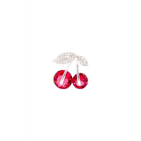 Diamante Cherry Brooch