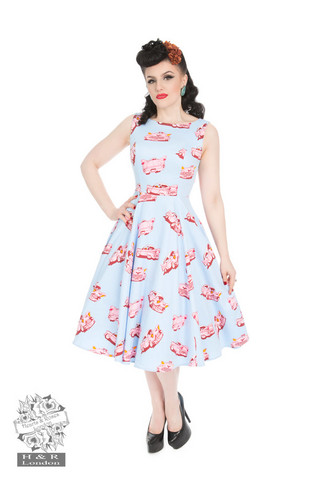 Audrey's Car Hop Swing Dress