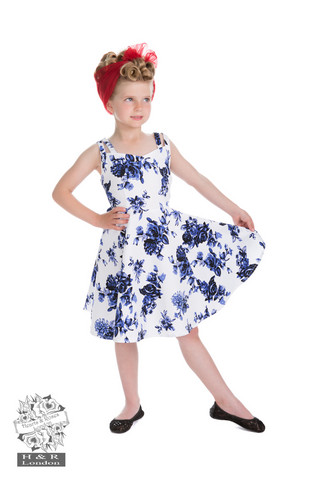 Blue Rosaceae Swing Dress (KIDS), lasten kellomekko
