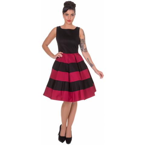 Anna Stripe Retro Rockabilly Swing Dress (XS-koko)