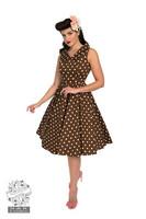 Ravishing Chocolate Polka Dot Swing Dress