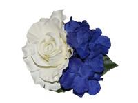 Georgina Rose and Hydrangea Vintage Style Hair Flower