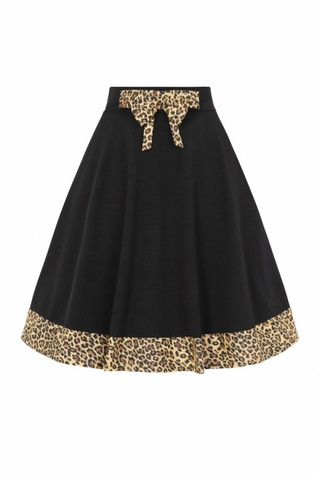 Rock'n Roll Leopard Swing Skirt