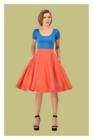 Shirley High Waist Circle Skirt, kellohame