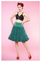 Nylon Fluffy Long Petticoat 65cm Green, (48-52-koko)