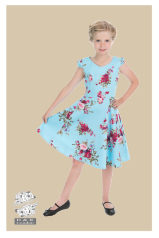 The Royal Ballet Dress (kids), vaalean sininen kellomekko