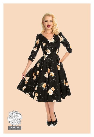Midnight Stardust Swing Dress, kellomekko