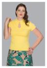 Mandarin Collar Top, keltainen toppi (M,L,2XL)