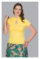 Mandarin Collar Top, keltainen toppi