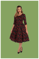 Sally Swing Dress, ruusumekko