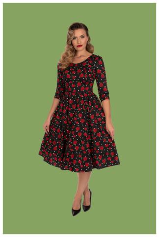 Sally Swing Dress, ruusumekko