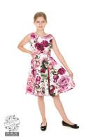 Girls Alice Floral Swing Dress, lasten kellomekko