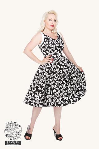 Bow Print Sophia Dress, kellomekko