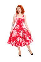 White Regal Lily Floral Swing Dress (S-koko)