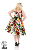 Princess Lily Dress in Orange Plus Size