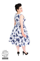 Blue Rosaceae Swing Dress (Plus Size)