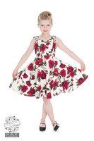 50s Ditsy Rose Floral Summer Dress, lasten kellomekko