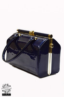 Navy Blue Patent Handheld