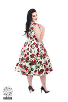 Ditsy Rose Floral Summer Dress (Plus Size)