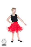 Kids Petticoat In Red, lasten tyllialushame punainen