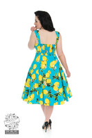 Vintage Blue Lemon Dress (Plus Size)