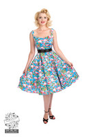 Pretty Flamingo Swing Dress
