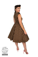 Ravishing Chocolate Polka Dot Swing Dress