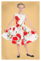 Opium Poppy Floral Dress -lasten kellomekko