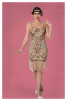 The Great Gatsby Nude Dress, 20-luvun tyylinen mekko