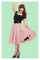 Kitty Cat Swing Skirt, kissahame