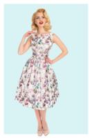 Antheia Metallic Swing Dress, kukkakuvioinen kellomekko