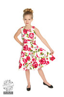 Sweet Rose Swing Dress in Kids, lasten ruusumekko