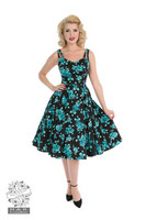 Black Rosaceae Swing Dress, kellomekko