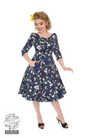 Enchanted Garden Floral Swing Dress, kellomekko