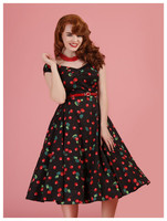 Dolores 50s Cherry Print Dress, kellomekko