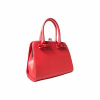 Jessica Bow Matte Bag, punainen rusettilaukku