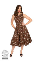 Cindy Polka Dot Swing Dress, kellomekko