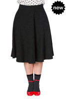 Sophicated Lady Swing Skirt,  musta swing-hame