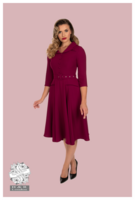 Gabriella Swing Dress in Plum, kellomekko