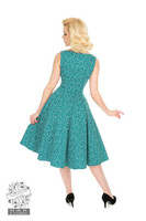 La Rosa Dotty Swing Dress,  vihreä kellomekko