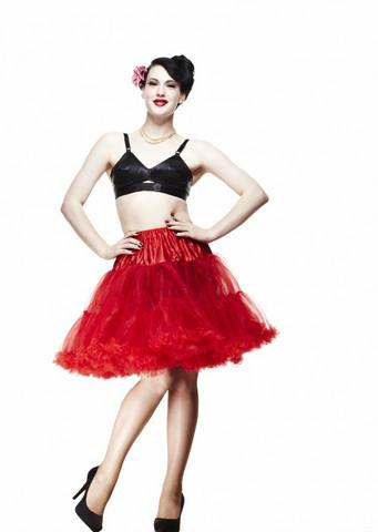 5028 HELL BUNNY Petticoat short, red