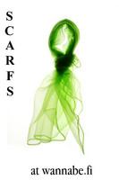 Chiffon scarf, lime