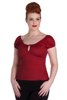 6505 Melissa top, dark red