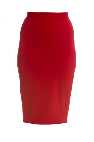5324  Joni Pencil skirt, red