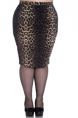 5452 Panthera pencil skirt, plus size