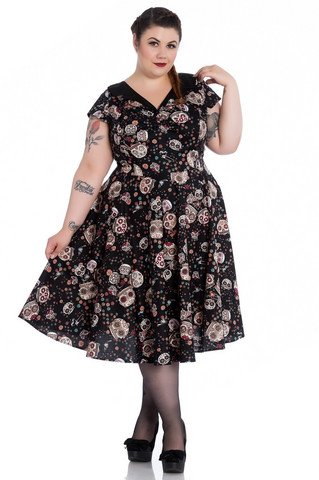4776 Idaho 50´s dress, blk, plus size