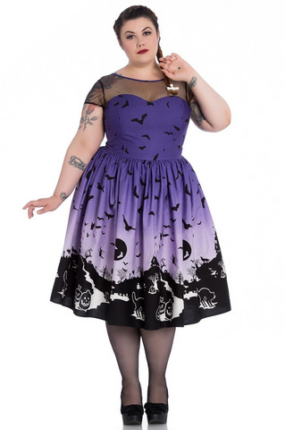 4770 Haunt 50`s dress, pur, plus size