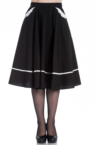 5444 Bat 50´s skirt, blk