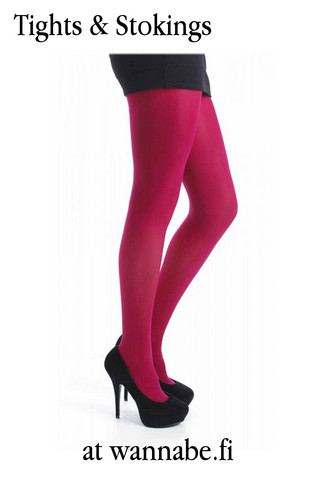 50 den Opaque tights, cerise