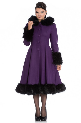 8057 Elvira Coat, purple